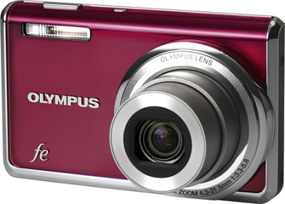 FE-5020 12MP Digital Camera w/ 5x Wide Angle Opt Zoom, 2.7 inch LCD (Wine Red)