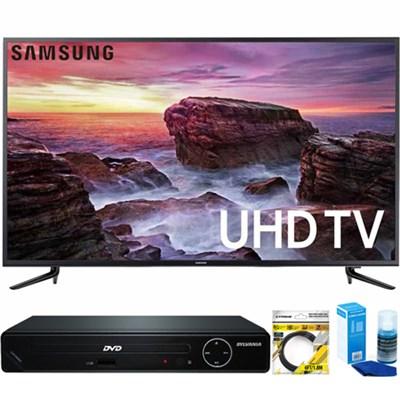 58` Smart MU6100 Series LED 4K UHD TV w/ Wi-Fi + HDMI DVD Player Bundle