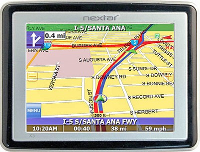 X3 Mobile GPS Navigation System w/ 3.5-inch LCD