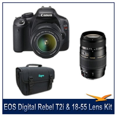 EOS Digital Rebel T2i w/ 18-55 IS and Tamron 70-300mm Lens Kit