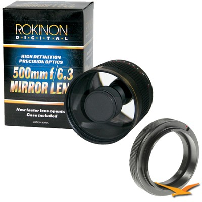 500mm F6.3 Mirror Lens for Nikon (Black Body) - ED500M-B