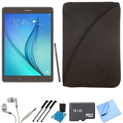 Galaxy Tab A 9.7-Inch W-Fi Tablet (Titanium with S-Pen) 16GB Memory Card Bundle