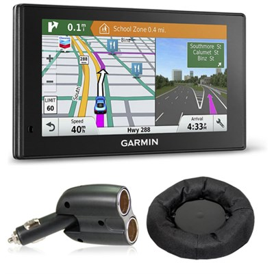010-01540-01 DriveSmart 60LMT GPS Navigator Charger + Friction Mount Bundle