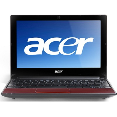 Aspire One 10.1` AOD255 Netbook Computer - Ruby Red (2934)