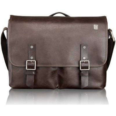 T-Tech Forge Bingham Leather Messenger 054170B - Brown