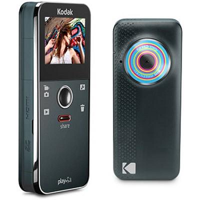Ze1 Playfull Mini Pocket Blue Black Camcorder Video Camera