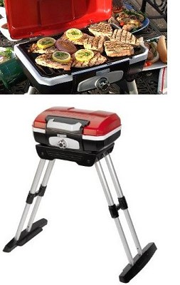 CGG-180 Petit Gourmet Portable Gas Grill with VersaStand