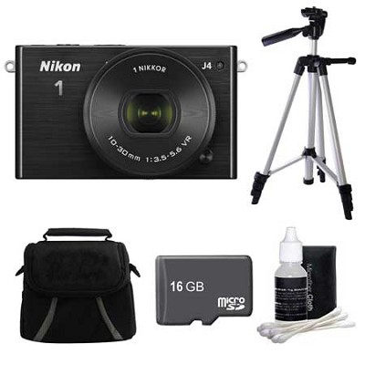 1 J4 Mirrorless Digital Camera with 10-30mm Lens Black Kit