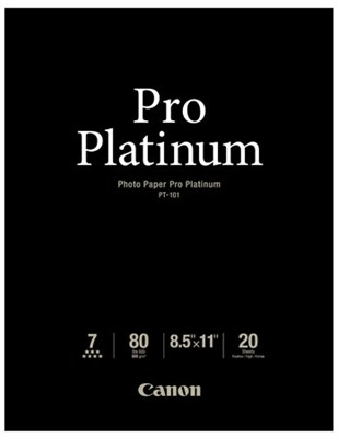 Photo Paper Pro Platinum 8.5` X 11` - 20 Sheets - OPEN BOX
