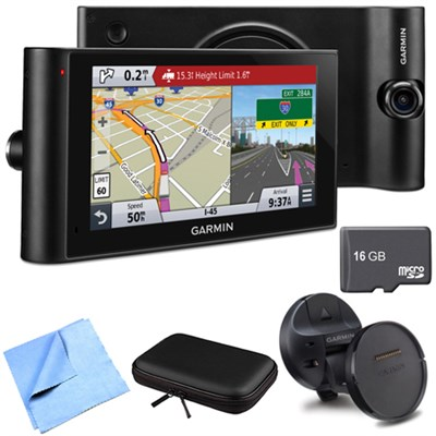 dezlCam LMTHD 6` GPS Truck Navigator w/ Dash Cam Deluxe Magnetic Mount Bundle