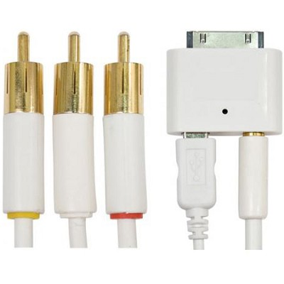 i.Sound AV Cable Works with iPhone and Made for iPod (White)