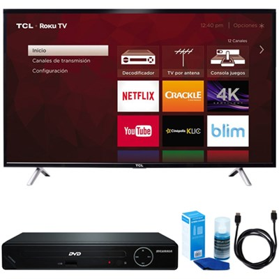 49` Class S-Series 4K UHD HDR Roku Smart TV w/ HDMI DVD Player Bundle