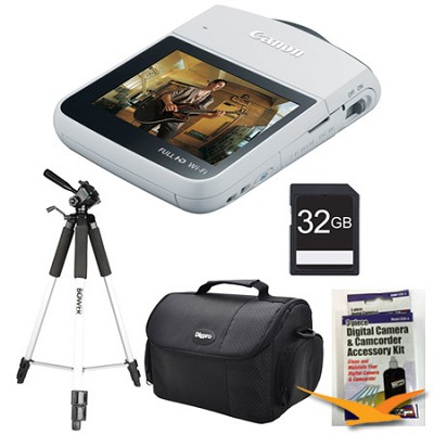 VIXIA mini Compact Camcorder White Kit