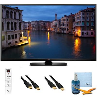50PB6650 - 50-Inch Full HD 1080p 600Hz Smart Plasma TV Plus Hook-Up Bundle
