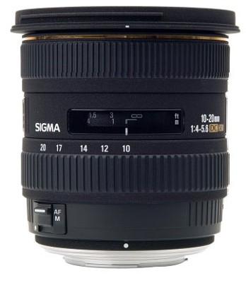 Super Wide Angle Zoom 10-20mm f/4-5.6 EX DC HSM AF Lens for Nikon Digital SLRs