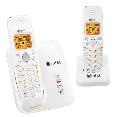 DECT 6.0 Digital Dual Handset Cordless Telephone with Caller ID/Call Waiting