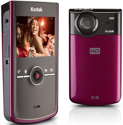 Zi8 Pocket 1080p Video Camera (Red)