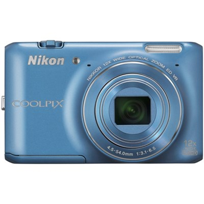 COOLPIX S6400 16 MP 12x Zoom Digital Camera - Blue (Factory Refurbished)