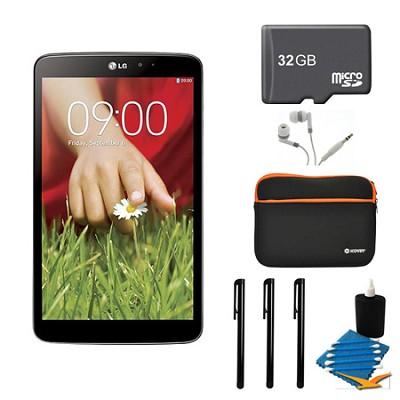 G Pad V 500 16GB 8.3` WiFi Black Tablet, 32GB Card, and Case Bundle