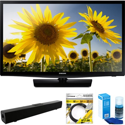 28` 720p HD Slim LED TV Clear Motion Rate 120 + Soundbar Bundles