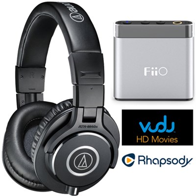 ATH-M40x Pro Headphones w/ FiiO A1 Amplifier + $30 to Vudu & 3 Months Rhapsody