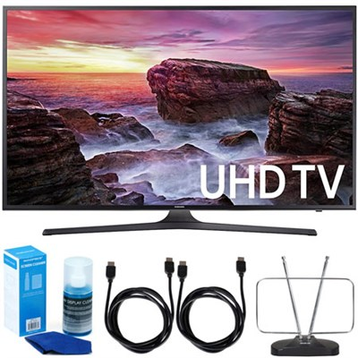 UN49MU6290FXZA 48.5` LED 4K UHD Smart TV (2017 Model) w/ Accessory Bundle