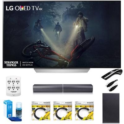 65` C7 OLED 4K HDR Smart TV OLED65C7P w/LGSJ7 Wireless Sound Bar Bundle