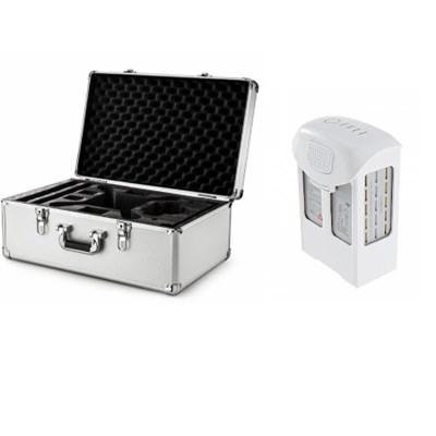 Phantom 4 Intelligent Flight Battery + Custom Hard Case for DJI Phantom 4