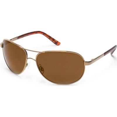 Aviator Sunglasses Gold Frame/Brown Polarized Lens