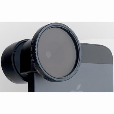 Telephoto Lens Plus Circular Polarizer for iPhone 5 & 5/S (Black)