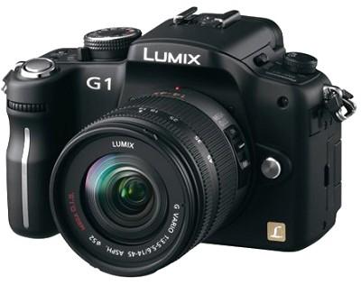 G1-series 12.1MP SLR Digital Camera (Black) w/ Lumix G Vario 14-45 mm f/3.5-5.6