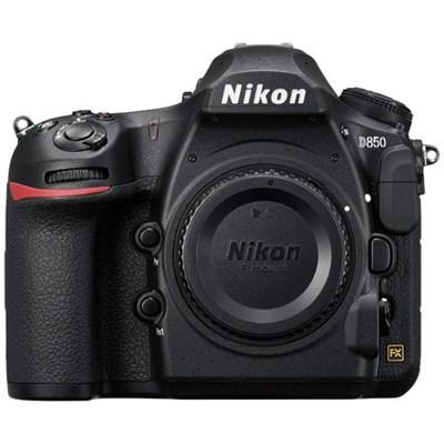 D850 45.7MP Full-Frame FX-Format Digital SLR Camera - Black (Body Only)