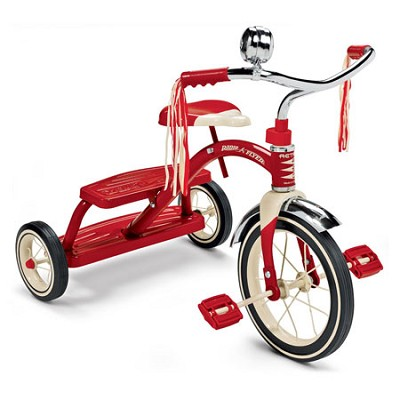 33 Classic Red Dual Deck Tricycle