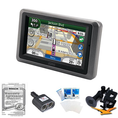 Zumo 665LM GPS Motorcycle Navigator Essentials Bundle
