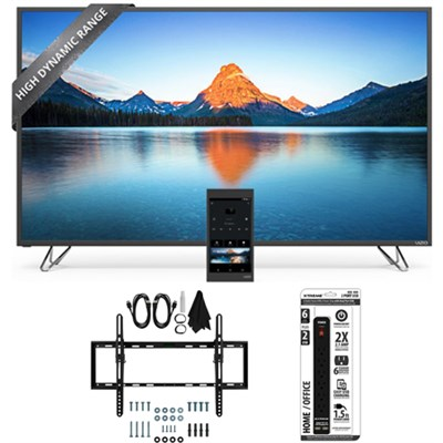 M50-D1 - 50-Inch 4K SmartCast HDR Ultra HD TV Flat + Tilt Wall Mount Bundle
