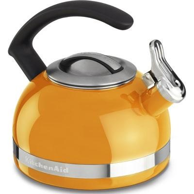 2.0-Quart Kettle with C Handle and Trim Band in Mandarin Orange - KTEN20CBDO
