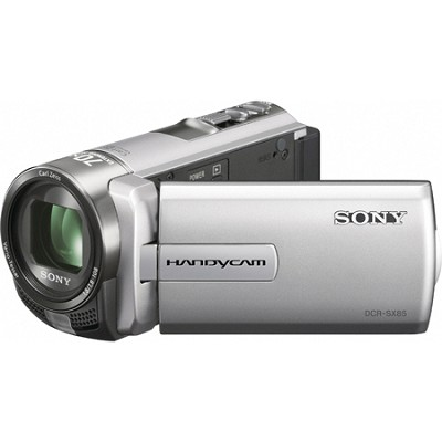 DCR-SX85 Handycam Compact Silver 16GB Camcorder w/ 60x Optical Zoom