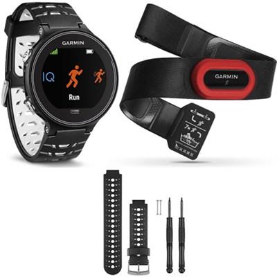 Forerunner 630 GPS Smartwatch w/ HRM-Run - Black/White - Black/White Band Bundle