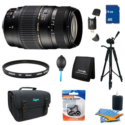 70-300mm 1:2 F/4-5.6 DI LD Macro Lens Pro Kit For Canon EOS