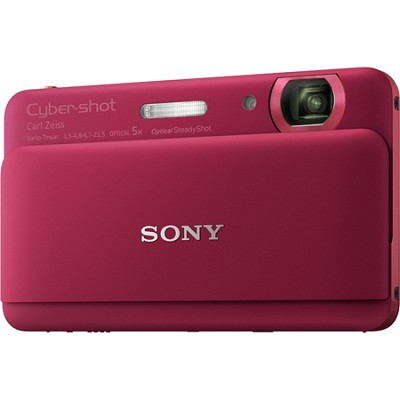 Cyber-shot DSC-TX55 Red Slim Digital Camera w/ 3.3` OLED Touchscreen - OPEN BOX