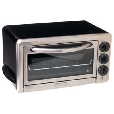 1/2-Cubic-Foot 6-Slice Countertop Oven, Onyx Black