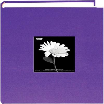 DA-200CBF Fabric Cover w/ Frame 200 4x6` Photo Memo Album (Grape Purple)
