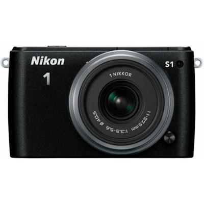 1 S1 10.1MP Black Digital Camera with 11-27.5mm Lens - Manufacturer Refurbished