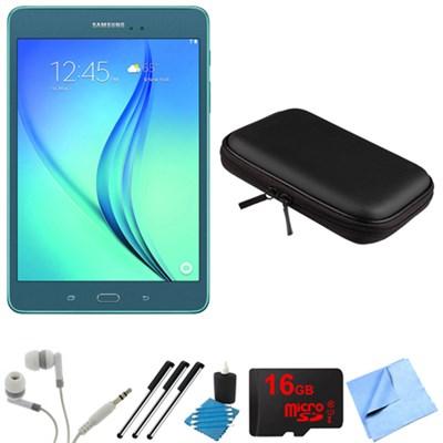 Galaxy Tab A 8-Inch Tablet (16 GB, Smoky Blue) 16GB Memory Card Bundle