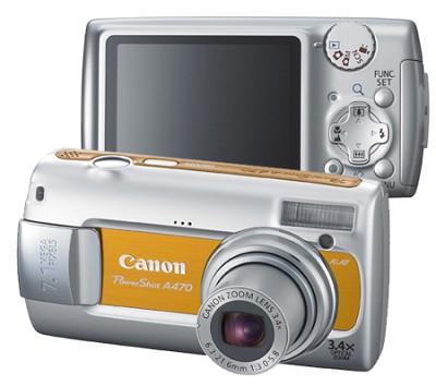 PowerShot A470 Digital Camera (Orange)