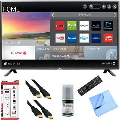50LF6100 - 50-inch 120Hz Full HD 1080p Smart LED HDTV Plus Hook-Up Bundle