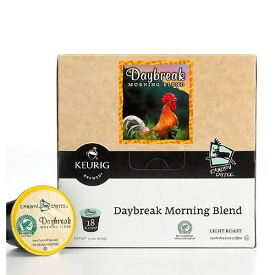 Caribou Daybreak Morning Blend Coffee includes 18 K-Cups