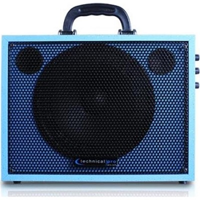 WASP300LB Battery Powered PA System with USB Playback - Light Blue