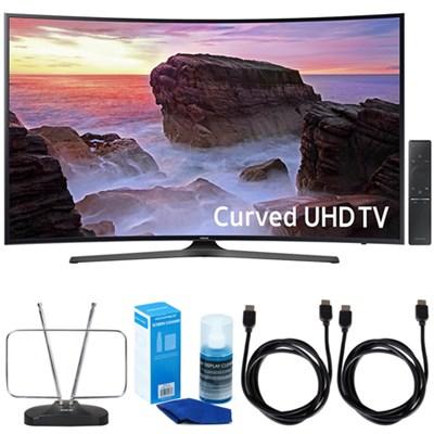 Curved 65` 4K UHD Smart LED TV (2017 Model) w/ TV Cut The Cord Bundle