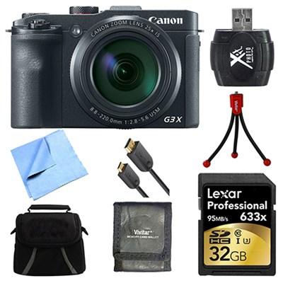 Powershot G3 X Digital Compact Camera 32GB Card Bundle